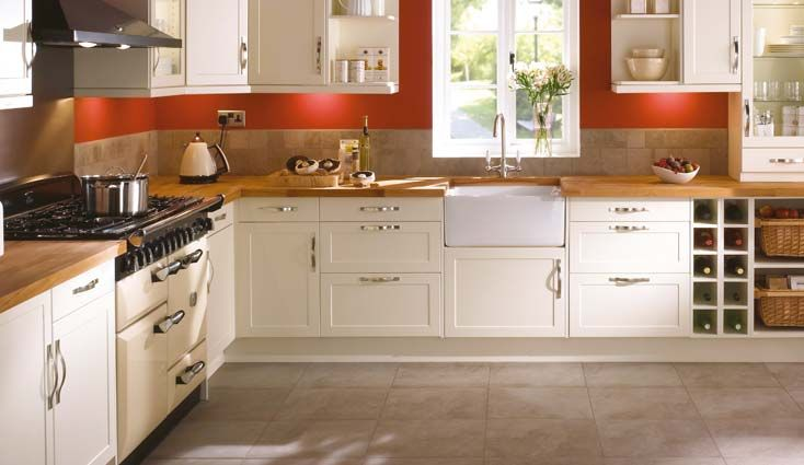 Terracota and cream kitchen inspiration when I'm ready for a major change.
