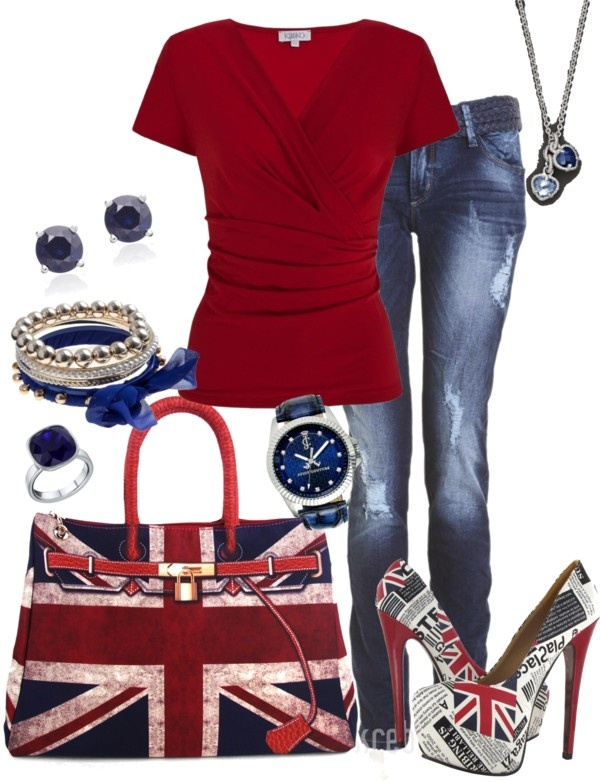 """Union Jack"" by tina-harris ❤ liked on Polyvore"
