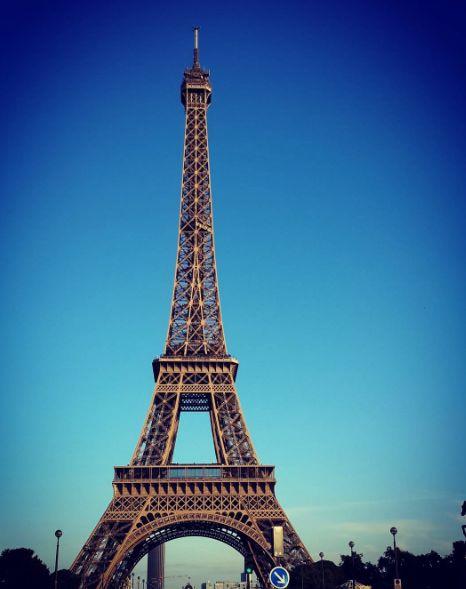 So blue sky over #Paris