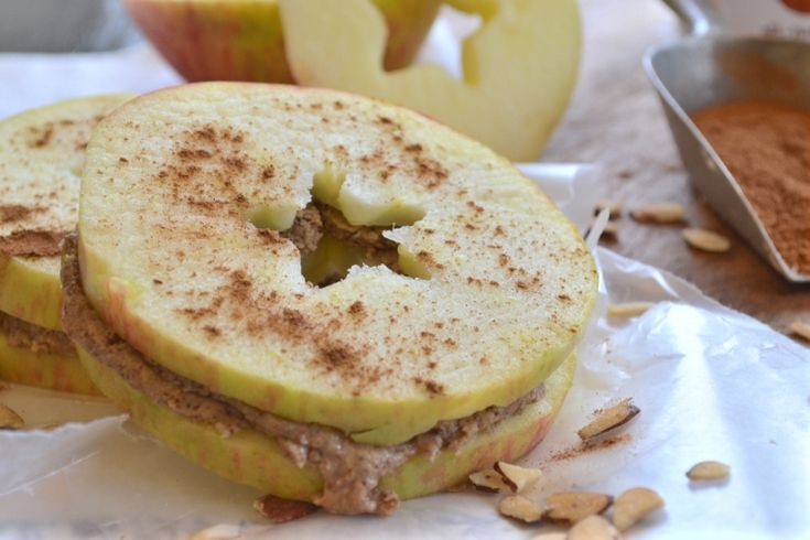 Apple Almond Butter Cinnamon Sandwich | Recipe