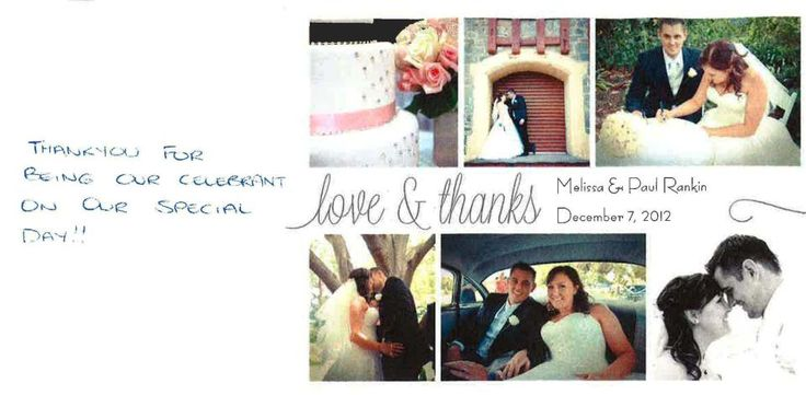 Thank you for my 'Thank You'. The happily married Mr & Mrs Paul and Melissa Rankin.