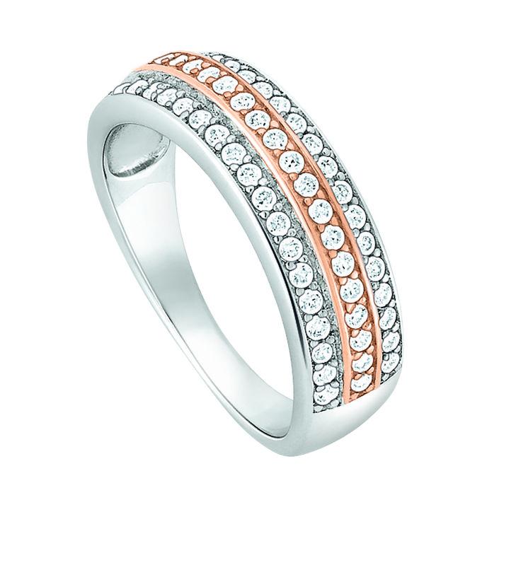 #Ring Silber 925 mit Zirkonia, teilweise rosé vergoldet bei | DorotheumJuwelier
