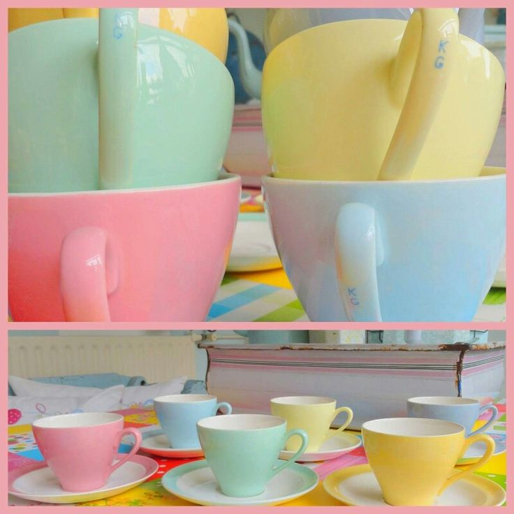 pastel en emaille on Pinterest  Vintage teacups, Turquoise and Pastel