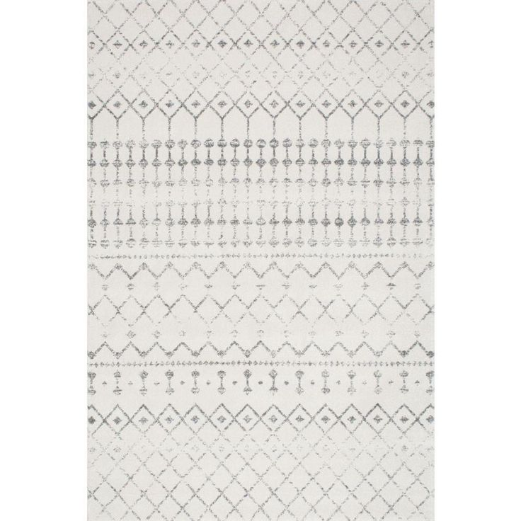 Nuloom Blythe Modern Moroccan Trellis Gray 7 Ft X 9 Ft
