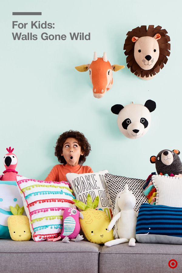 Create A Family Room That S For Everyone Pillowfort S Adorable Accessories Like Animal Head Mounts