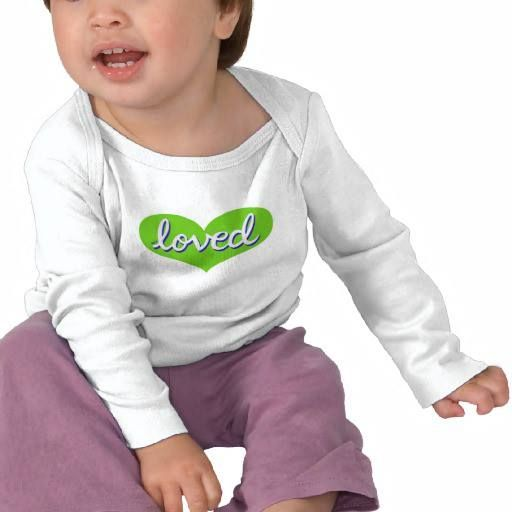 Long sleeved baby onesie Green heart design Available in a range of styles and designs