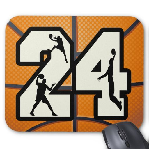 Number 24 Basketball Mouse Pad | Zazzle