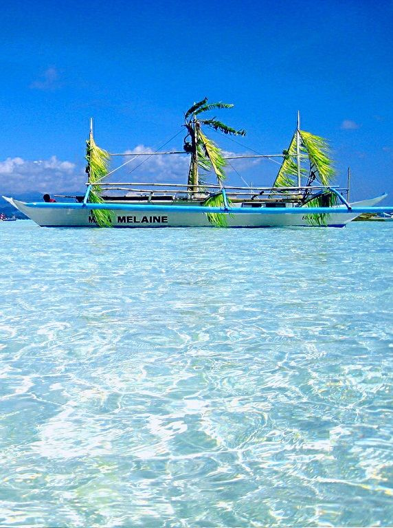Crystal Clear Water OF Boracay Island, Malay, Philippines: