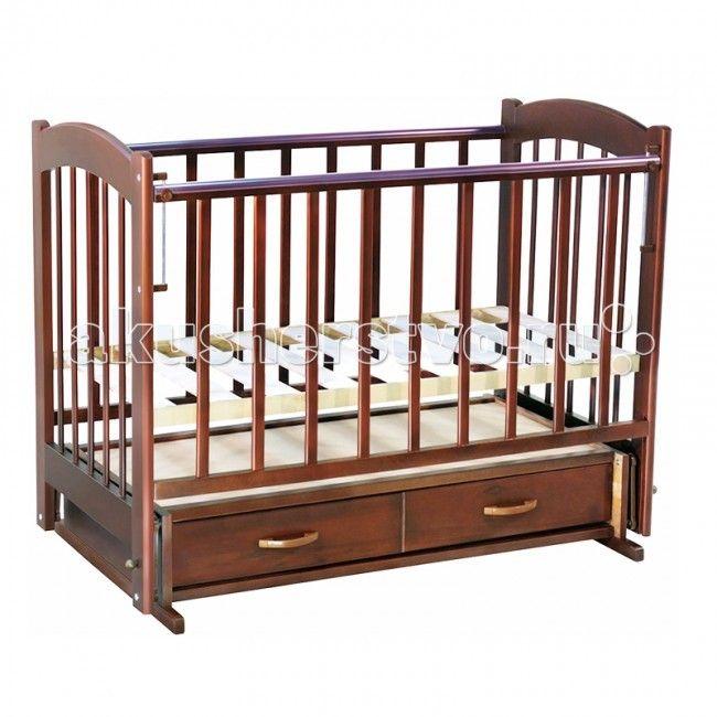 Детская кроватка Ведрусс Радуга №4 маятник поперечный  Детская кроватка Ведрусс Радуга №4 маятник поперечный недорогая, качественная кровать с классическим дизайном:  Особенности: кровать укомплектована выдвижным ящиком для детских вещей; кроватка-маятник поперечного качания 3 уровня ложа по высоте, обеспечивает быстрый доступ для мамы и безопасность ребенка в любом возрасте; боковина опускается и снимается полностью, превращая кровать в диванчик для более взрослого ребенка на обеих боковых…