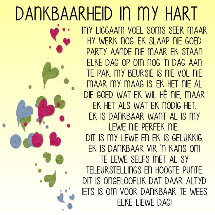 DANKBAARHEID IN MY HART.....