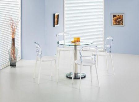 Cyryl üvegétkező (asztal +4db K100 szék)