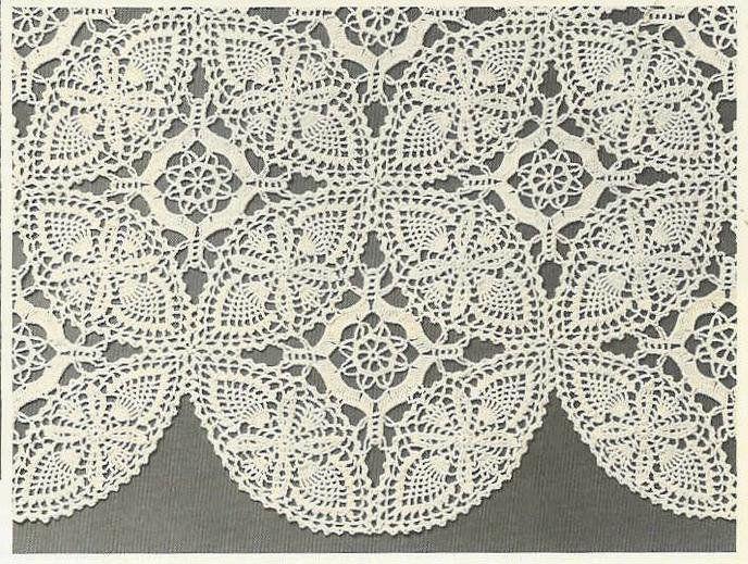 Double Wedding Ring Crochet Tablecloth Pattern MotifsCrochet Pattern, $3.75