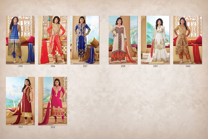 *** FULL CATALOG *** Latest Fashion Show #HinaKhan #Net #Georgette + Santoon #Suit & #SalwarKameez available india's best price. PRICE - 10600 (8 pcs) to place an order inbox me