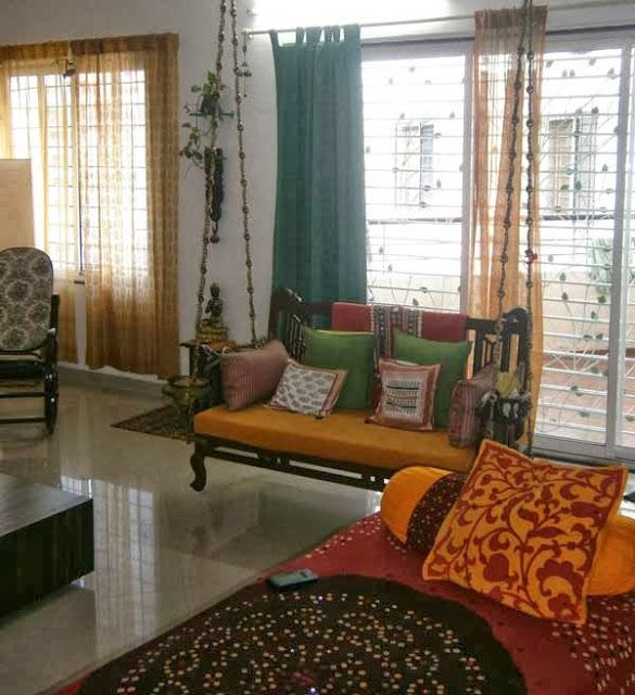 A Navrathi Look In The Living Room. Ushma And Sushilu0027s Apartment Near  Mumbai, A Navrathri Special