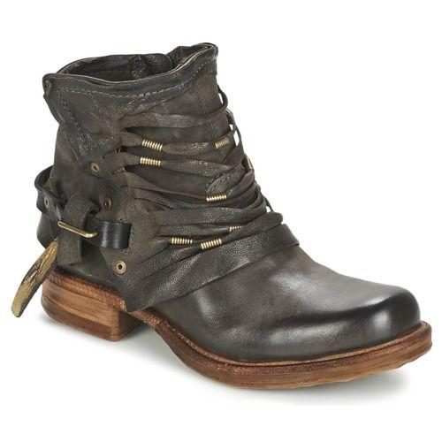 buy popular d72fd 930a5 Chaussures Femme Boots Airstep   A.S.98 SAINT Noir fumé