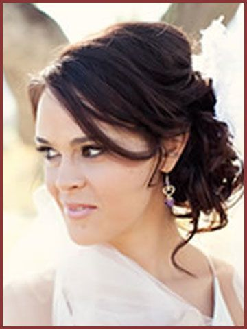 wedding updos for thin hair | Side Swept Updo Wedding Hairstyles 2012 | Hairstyles for Weddings