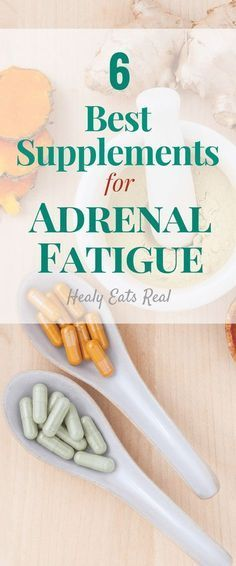 6 Best Supplements for Adrenal Fatigue- Great holistic supplements if you are struggling with adrenal insufficiency and fatigue!
