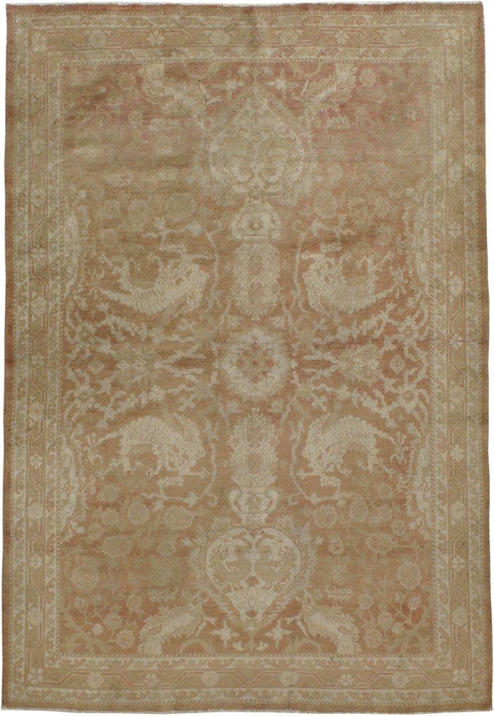 Item Title:Antique Agra Rug,Item Number:16502,Item Size:(1.34 x 1.97m)