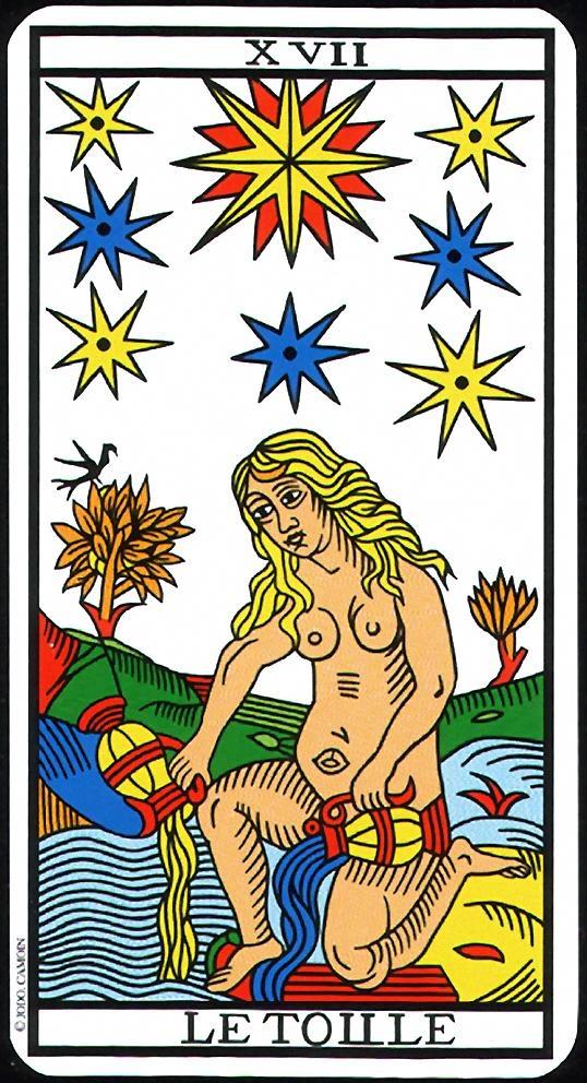 The Stars - XVII - Major Arcana   Tarot de Marseille (Camoin-Jodorowsky)