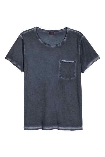 T-shirt z surowymi brzegami
