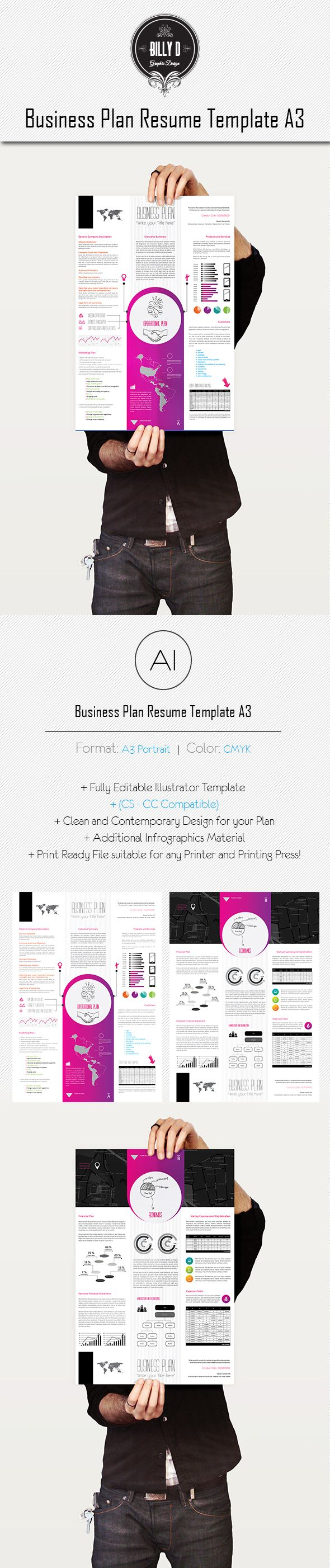 Business Plan Resume Template A3 on Behance Resume