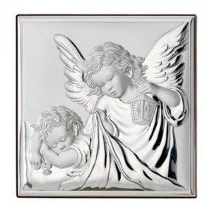 pamiatka srebrna na chrzest dla dziecka z gawerem