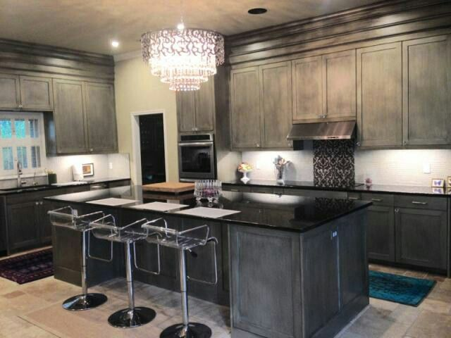 Metallic silver kitchen cabinets by holly simonson for 5 star kitchen cabinets