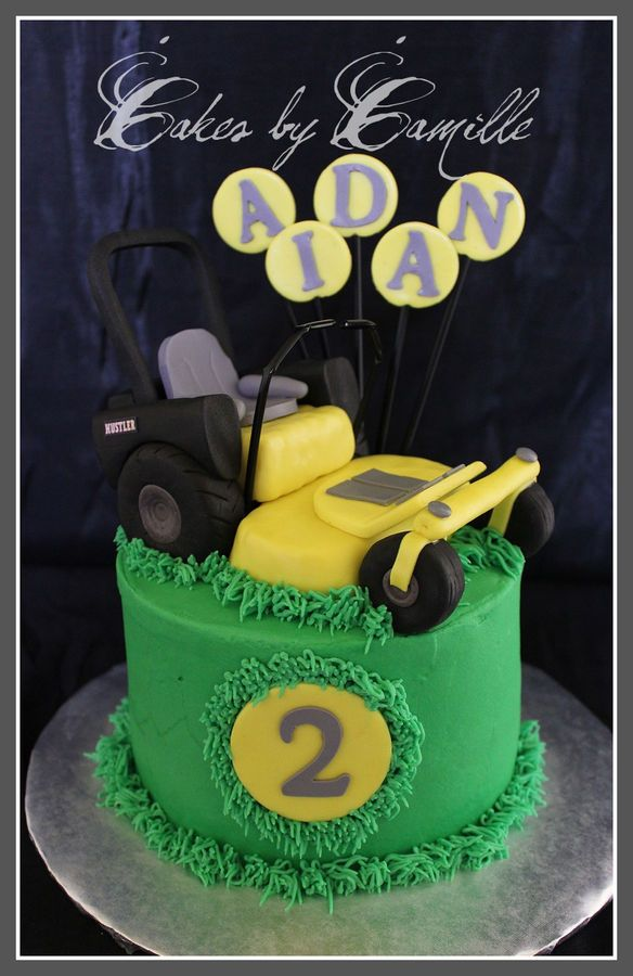 Zero turn lawn mower cakes