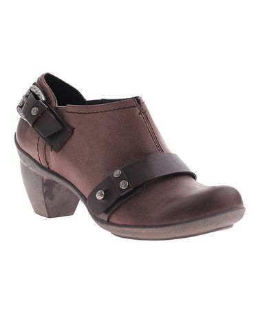 Loving this Gray El Reno Leather Ankle Bootie on #zulily! #zulilyfinds