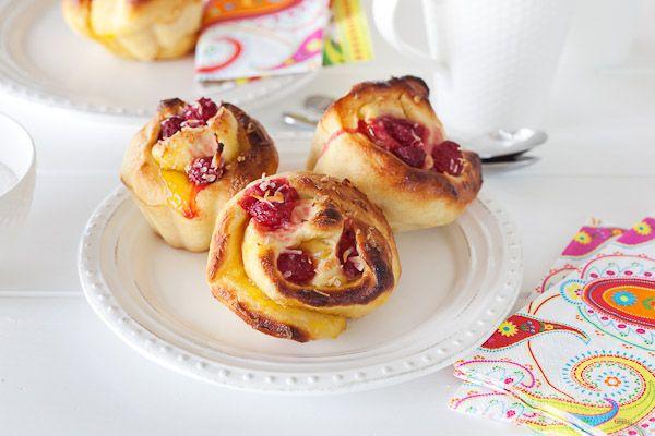 Lemon and raspberry Brioche - sound yum