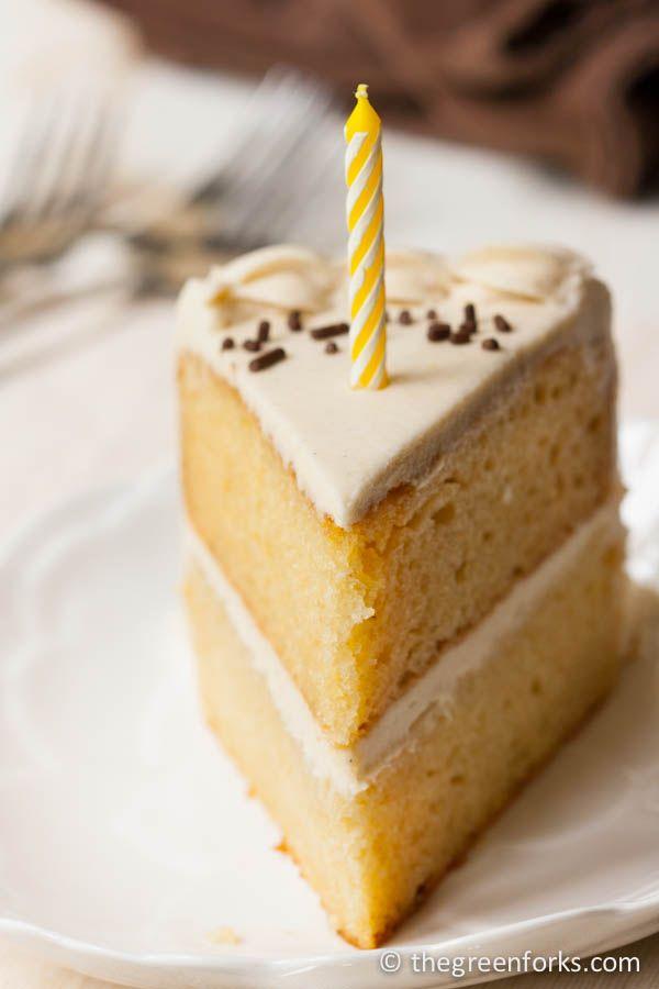 Vegan Vanilla Birthday Cake Recipe Vegan yellow cake Vegans
