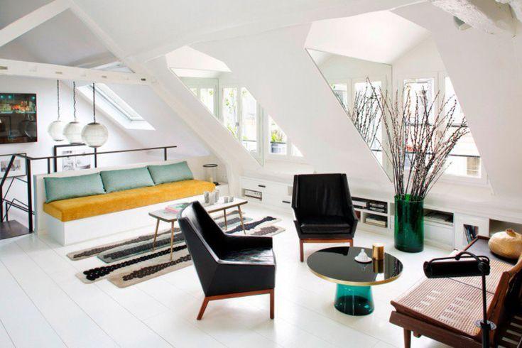 woonkamer in origineel vintage appartement