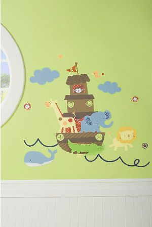 Noah s Ark Baby Nursery Wall Stickers and Decals with Animals