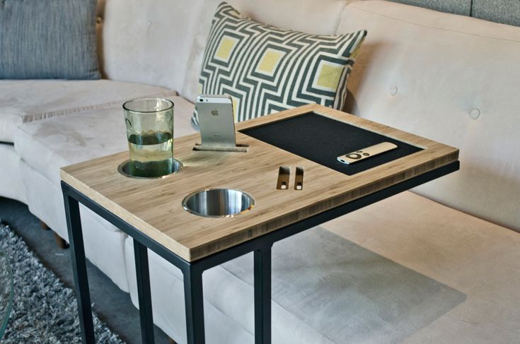 Caddy is a table to bring all of your necessities and tech devices right up next to you when you're trying to relax. http://design-milk.com/caddy-sofas-best-friend/