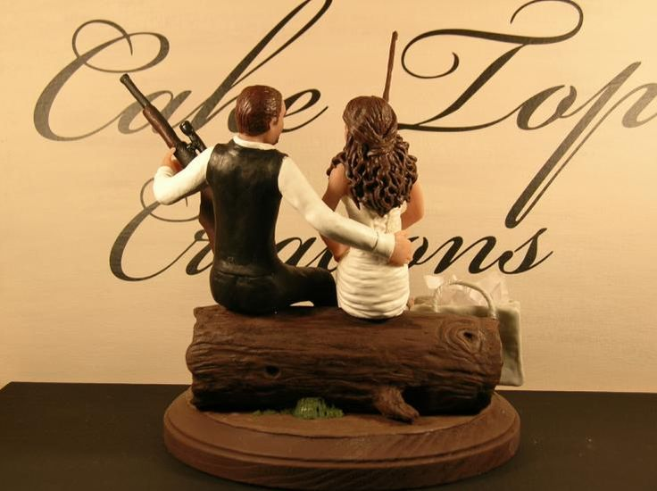 redneck deer fishing hunting wedding cake toppers 25 best ideas about fishing wedding cakes on 19131