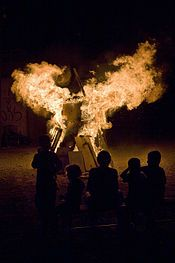 Lag BaOmer (Hebrew: ל״ג בעומר), also known as Lag LaOmer amongst Sephardi Jews, is a Jewish holiday celebrated on the thirty-third day of the Counting of the Omer, which occurs on the 18th day of the Hebrew month of Iyar. In modern Israel, Zionist ideology redefined Lag BaOmer as a nationalist holiday, connecting it to the Bar Kokhba revolt against the Roman Empire.  A bonfire celebrates the holiday.
