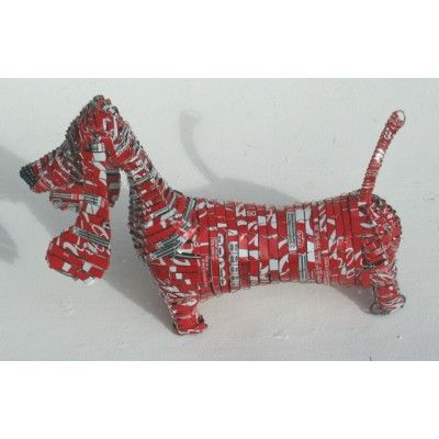 Dachshund Sausage Dog Coke Can Recycled Tin Artwork