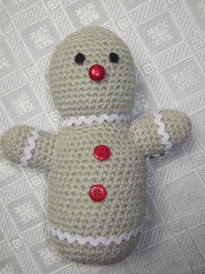Amigumi. Galleta de Jengibre, tejida a crochet.
