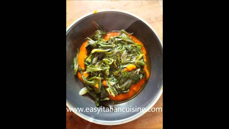 SWISS CHARD WITH TOMATO SOUCE AND SMOKED CHEESE