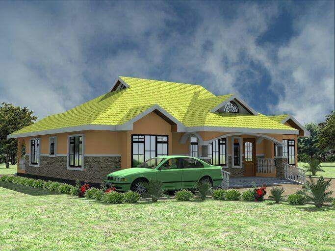 3 Bedroom House Plan With Floor Plans Bedroom House Plans House Designs In Kenya 3 Bedroom House