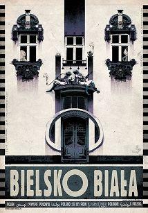 Bielsko-Biała, plakat z serii Polska, Ryszard Kaja