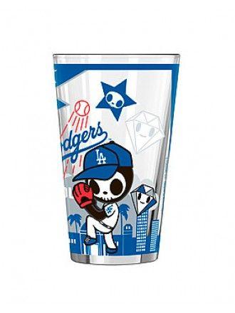 tokidoki x MLB Dodgers 16 oz Sublimated Pint Glass #tokidoki #dodgers #playball