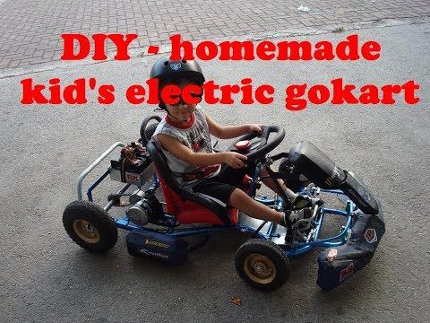 Miraculous Electric Go Kart Homemade Diy As Build Part 1 Electric Home Remodeling Inspirations Gresiscottssportslandcom