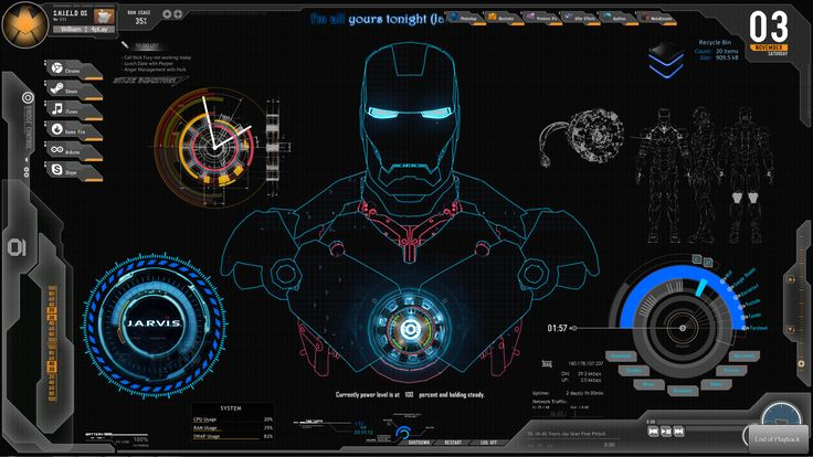ironman jarvis wallpaper - Google Search More
