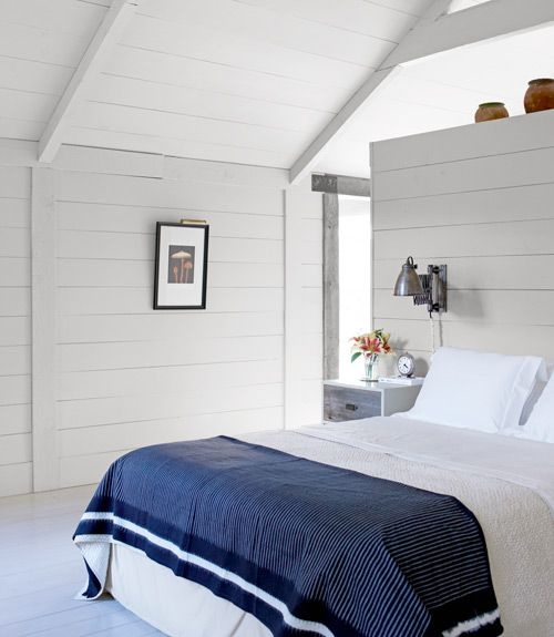 New York Bedroom Interior Design White Bedroom Cupboards Elegant Bedroom Colors Small Apartment Bedroom Design: White Wood Walls, Tongue And