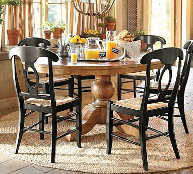 Sumner Extending Pedestal Dining Table  potterybarnBest 25  Round extendable dining table ideas on Pinterest   Round  . Pine Dining Table Round Extending. Home Design Ideas