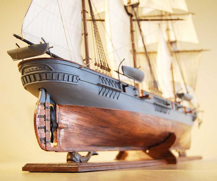 CSS Alabama Model Ship from Stern Quarter.