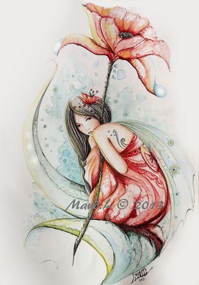 MES FEERIQUES (Aquarelles et pastels originales) - MAUD LAMOINE Illustratrice