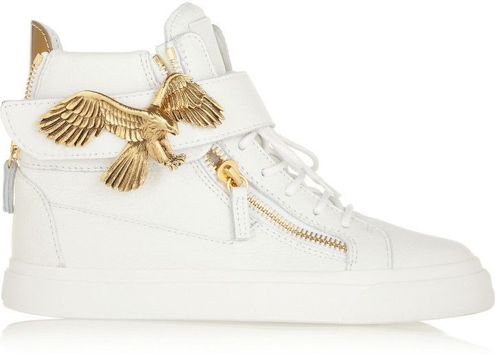 Giuseppe Zanotti London textured-leather high-top sneakers on shopstyle.co.uk