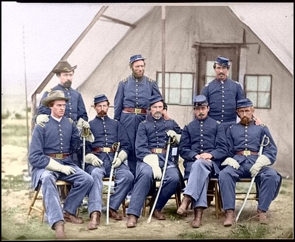 Re-coloured civil war photo. Makes it all the more real. wow